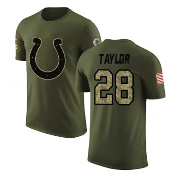 Men's Jonathan Taylor Indianapolis Colts Olive Salute to Service Legend T-Shirt