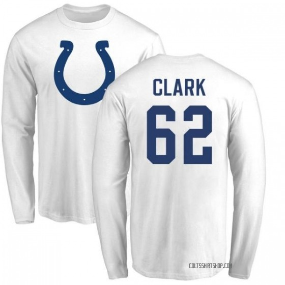 new arrival b3c24 0bbb8 Men's Le'Raven Clark Indianapolis Colts Name & Number Logo Long Sleeve  T-Shirt - White