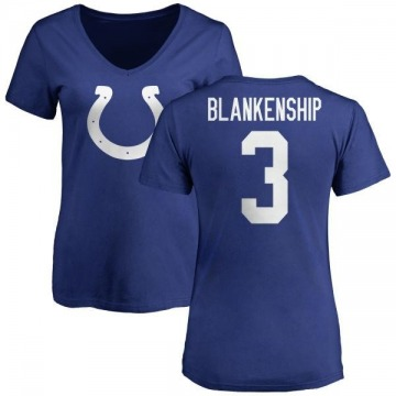 Women's Rodrigo Blankenship Indianapolis Colts Name & Number Logo Slim Fit T-Shirt - Royal