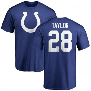 Youth Jonathan Taylor Indianapolis Colts Name & Number Logo T-Shirt - Royal