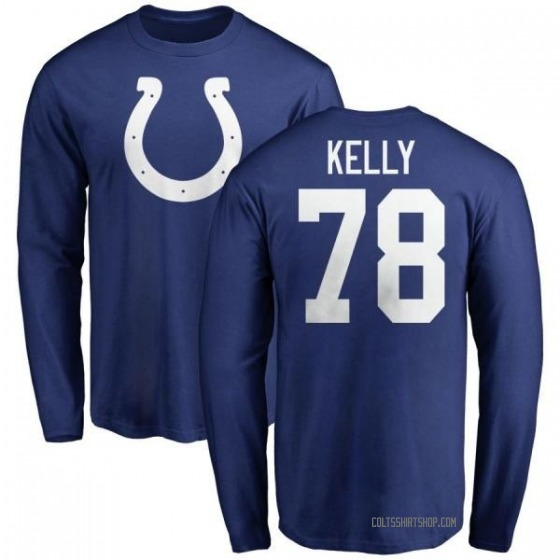 Youth Ryan Kelly Indianapolis Colts Name & Number Logo Long Sleeve T-Shirt - Royal